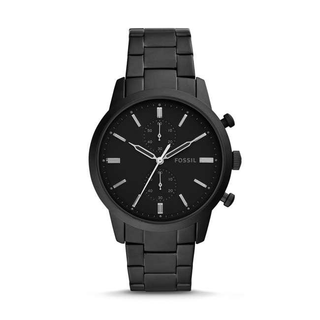 FS5502 Fossil Townsman Quartz Chronograph Black Stainless Steel Men's Watch