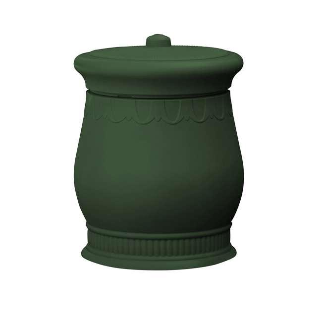SV-URN-GRN Good Ideas Savannah Decorative 30 Gallon Storage and Waste Basket Urn, Green