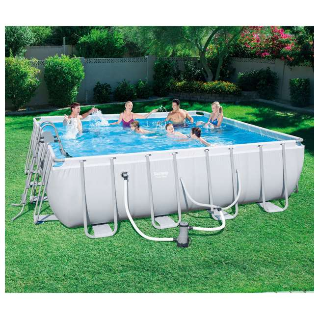 Bestway 16 39 X 48 Power Steel Frame Above Ground Pool Set 56628e Bw