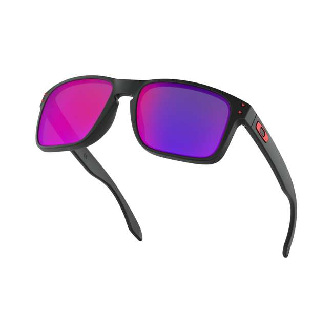 OO9102-36 Oakley OO9102-36 Classic Holbrook Sunglasses, Matte Black/Positive Red Iridium 2