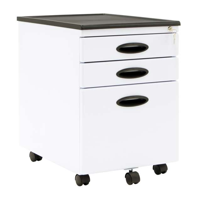 4 x STDN-51103BOX Calico Designs Office Storage Mobile File Cabinet (4 Pack) 1