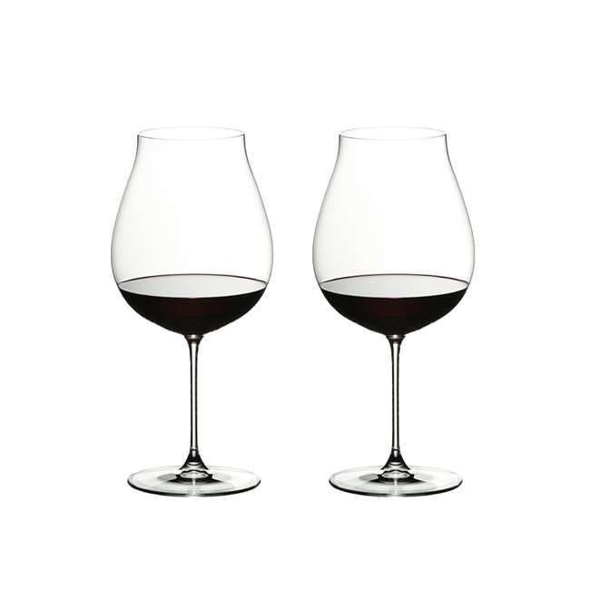 6449/67 Riedel Veritas Crystal New World Pinot Noir Red Wine Glass, 28.21 Oz. (2 Pack)