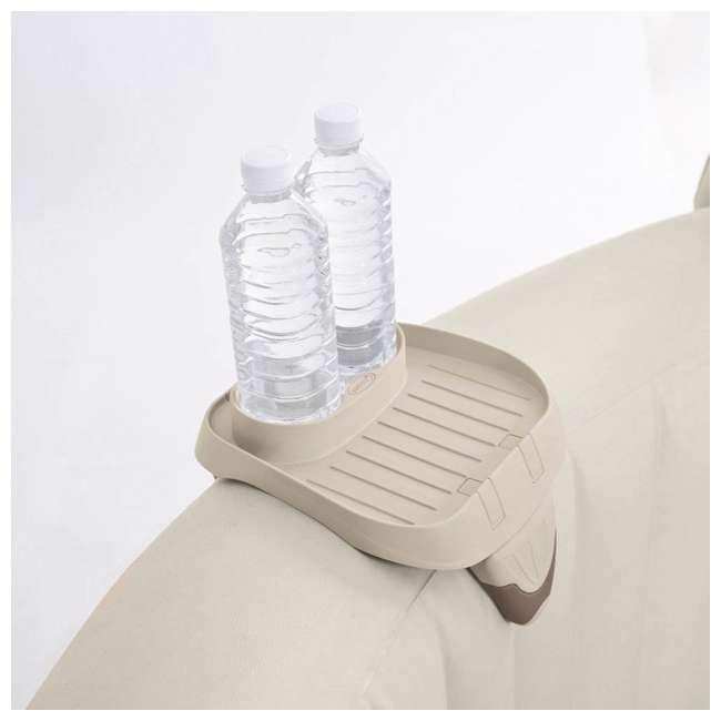 28505E + 28407E + 28500E Intex 28407E Pure Spa 4 Person Inflatable Hot Tub With Headrest And Cup Holder 1