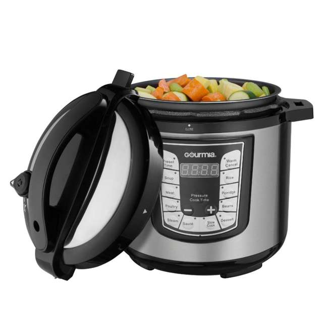 GPC625 Gourmia ExpressPot Digital Multi-Function 6 Qt. Pressure Cooker, Stainless Steel  3
