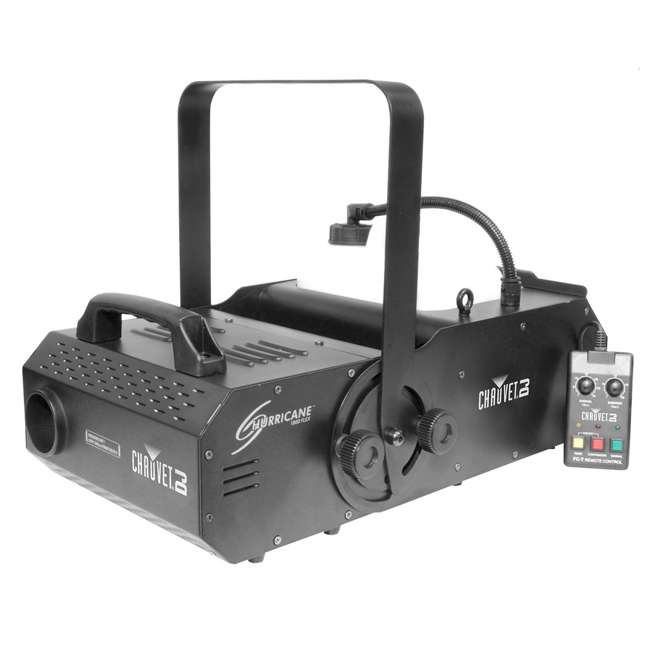 H1800FLEX + 2 x FJU Chauvet H1800FLEX Hurricane Fog/Smoke Pro Machine + Fog Juice Fluid (2 Gallons) 2