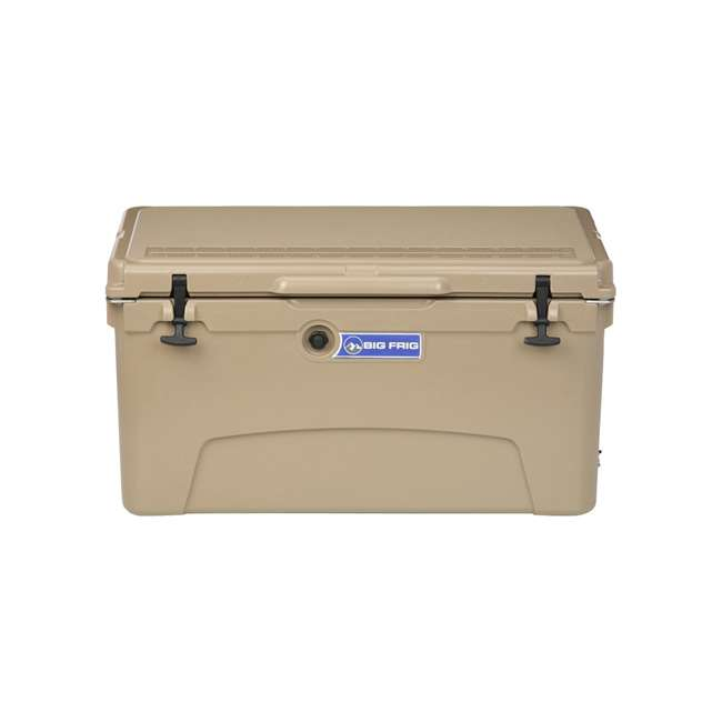 BFDB75-SD Big Frig Denali 75 Quart Insulated Cooler with Cutting Board and Basket, Sand 1