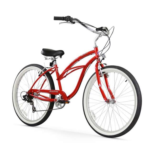 "14805 Firmstrong Urban Lady Women's 26"" 7-Speed Cruiser Bike, Red"