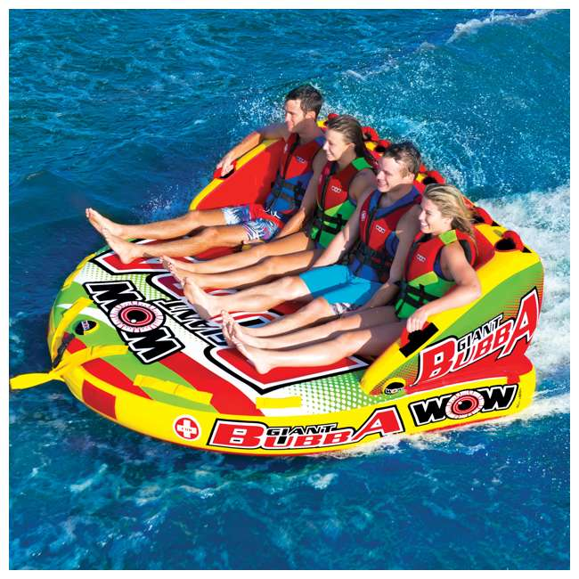 17-1070 World of Watersports Giant Bubba 4 Rider Inflatable Tube 2