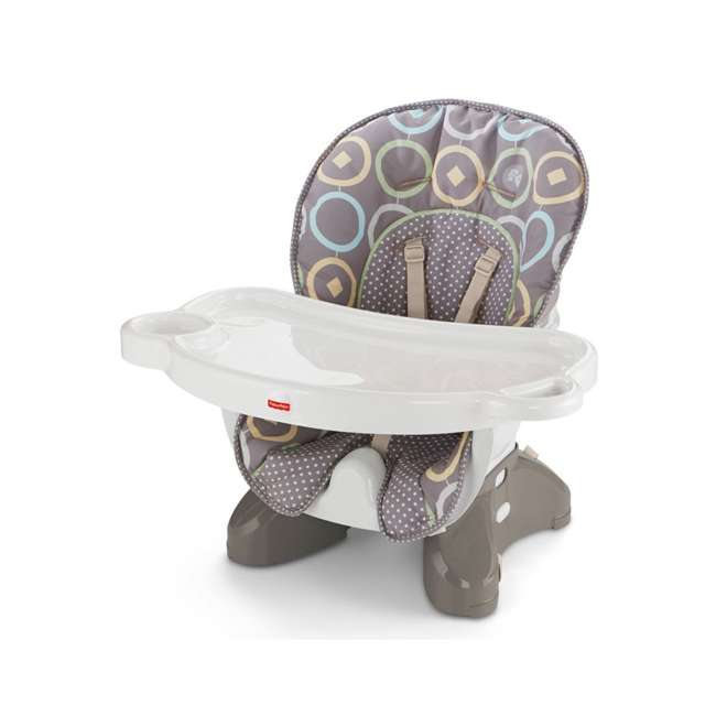 BMM98 Fisher Price SpaceSaver Portable Travel Baby Feeding High Chair Seat, Luminosity