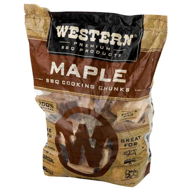 28085 Western BBQ Maple Barbecue Flavor Wood Cooking Chunks for Grilling and Smoking 2