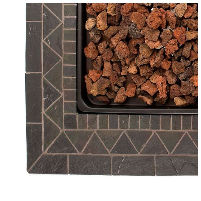GAD1418M Endless Summer 30 inch Outdoor Gas Lava Rock Patio Fire Pit, Brown (2 Pack) 3