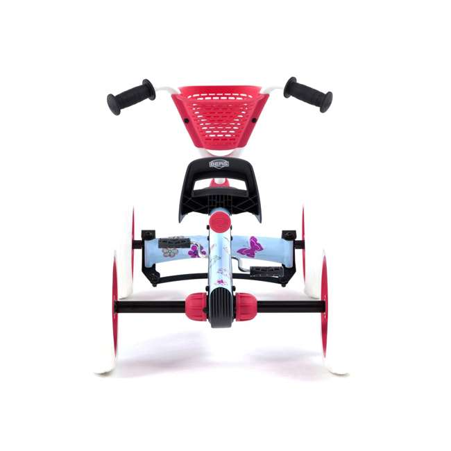 24.30.02.00 Berg Buzzy Bloom Toddler Adjustable Compact Pedal Powered Go Kart, Light Blue  2