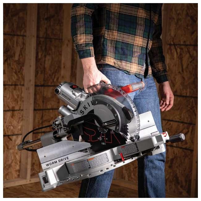 SPT88-01 SKILSAW SPT88-01 12 Inch Blade 15 Amp Worm Drive Dual Bevel Sliding Miter Saw 5
