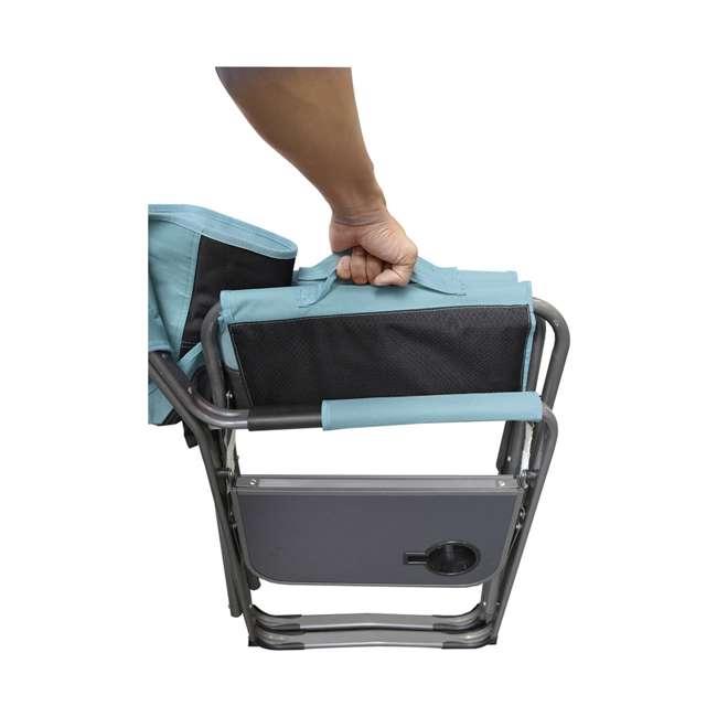 CVANDFC01022-2PK Caravan Canopy Elite Director's Folding Chair, Blue/Grey (2 Pack) 4