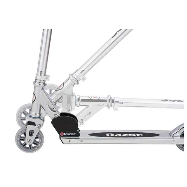 13003A2-RD + 13003A2-CL Razor A2 Kid Folding Aluminum Portable Kick Push Scooter w/ Wheelie Bar (2 Pack) 8