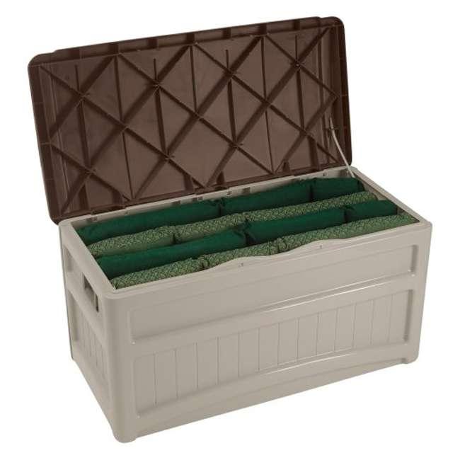 6 x DB8000B Suncast 73 Gallon Portable Deck Storage Box with Wheels (6 Pack) 4