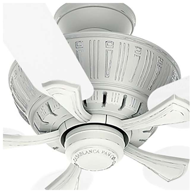 55062 Casablanca Coletti 54 Inch Indoor Cottage Style White Ceiling Fan with Downrods 4
