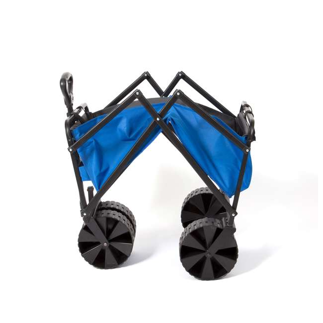 SUW-400-BLUE-GRAY-U-B Seina Manual 150 Pound Steel Frame Folding Cart Beach Wagon, Blue/Gray (Used) 3