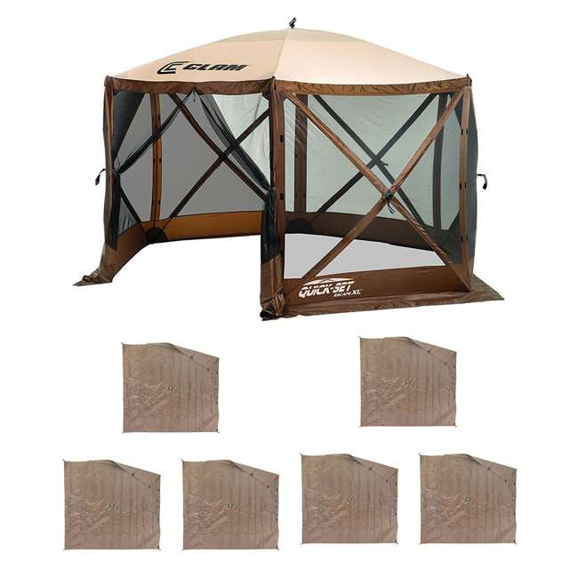 CLAM-ESXL-10730 + 2 x CLAM-WP-ESXL-10732 Clam Quick Set Escape XL Gazebo  + Side Wind Panels (6 Pack)