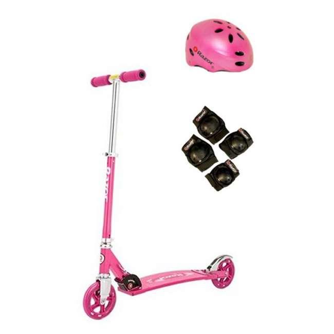13014461 + 97783 + 96771 Razor Sweet Pea Cruiser Scooter (Pink) with Helmet, Elbow & Knee Pads