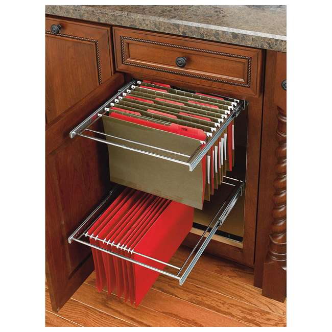 RAS-FD-KIT Rev-A-Shelf RAS-FD Series 2 Tier Standard Height Base Cabinet Organizer, Chrome 3