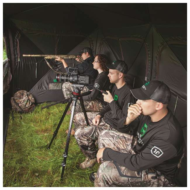 BARR-BE650BW Barronett Blinds BE650BW Big Beast Backwoods Double Wide Hub Hunting Blind, Camo 6