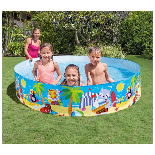 58457EP-U-A Intex Seahorse Kids 8 Foot Instant SnapSet Swimming Pool (Open Box) (2 Pack) 1