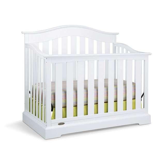 04550-041 + 06711-300 Graco Westbrook 4-in-1 Crib in White w/ Natural Foam Mattress 1