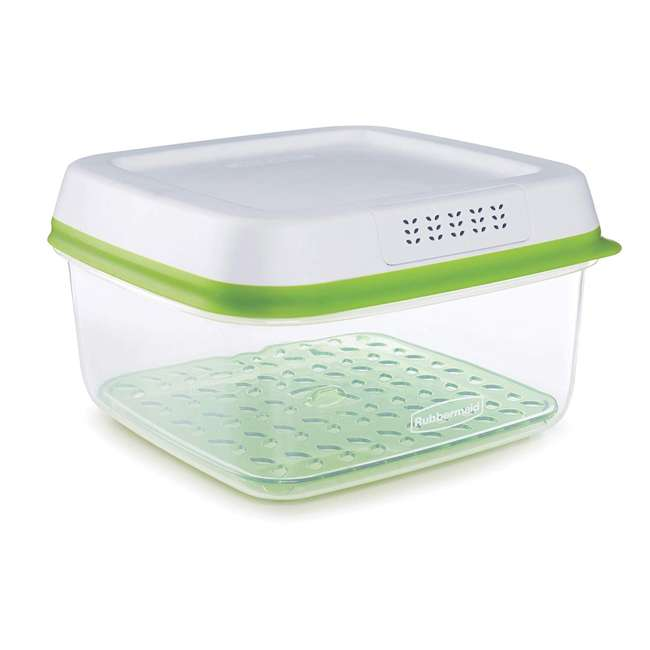 1996984 Rubbermaid FreshWorks Large Square Produce Saver Storage Container, 11.1 Cups