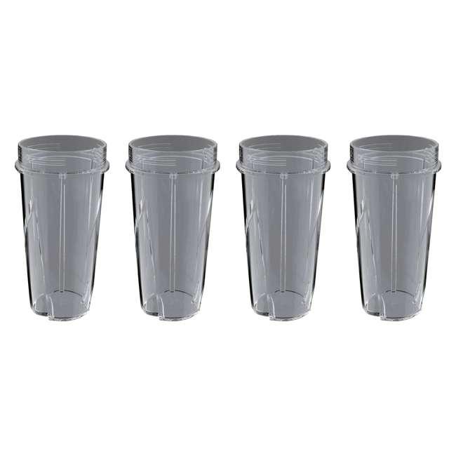 4 x 199KKU Ninja 16-Ounce Nutri Ninja Kitchen Pulse Blender Replacement Cup (4 Pack)