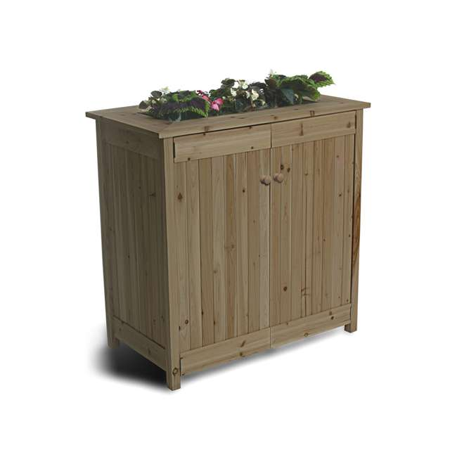 ALG-32003 Algreen 32003 ErgoGarden Outdoor Weather Resistant Deck Box and Elevated Planter