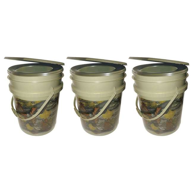 3 x 9863-03 Reliance Products Hunter's Loo Portable 5 Gallon Camouflage Toilet (3 Pack)