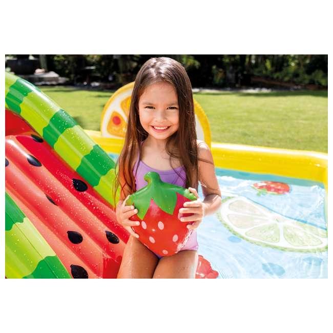 57158EP Intex 57158EP Fun'N Fruity Outdoor Inflatable Kiddie Pool Play Center with Slide 7