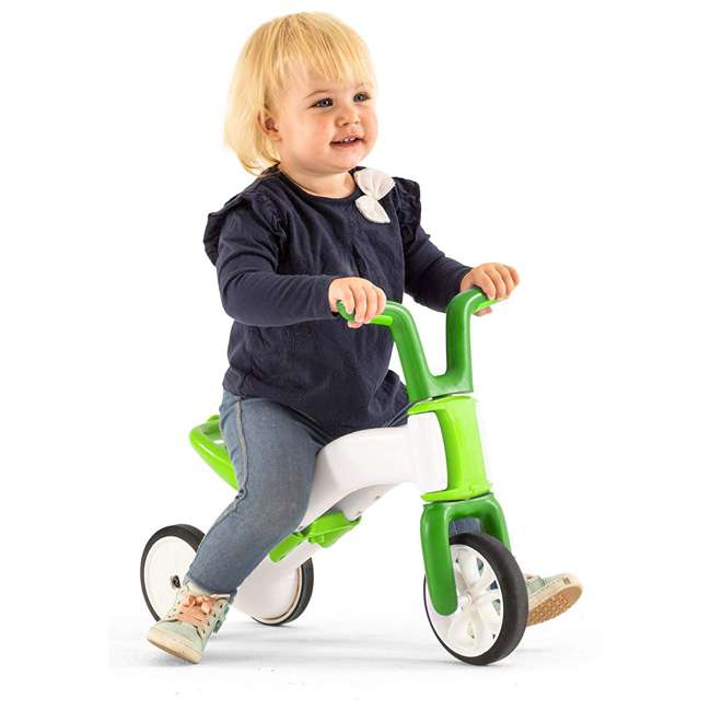 CPBN02LIM Chillafish CPBN02LIM Bunzi Childrens Gradual Balance 2 in 1 Tricycle Bike, Lime 1