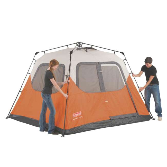 2000017933 + 2A-CM004W Coleman Outdoor 6 Person Camping Tent and Uriah Products 85 Prime Cooler 3