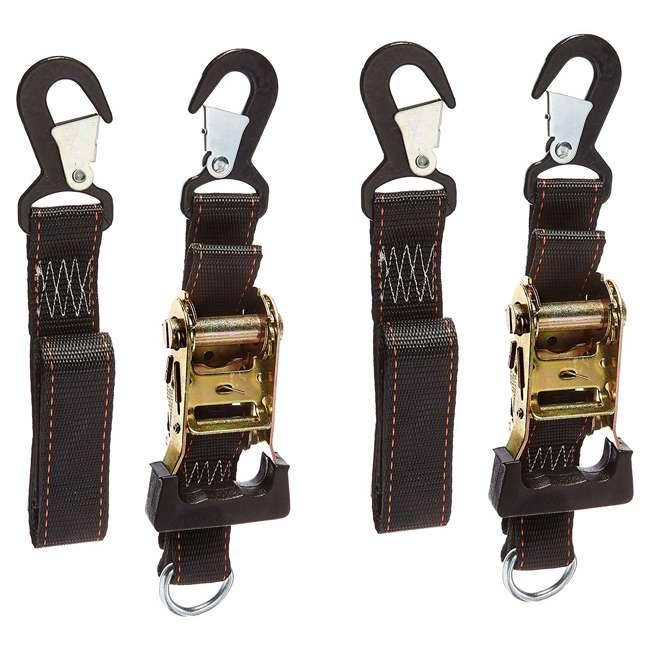 05723 Keeper Soft-Tie Ratchet Tie-Down Straps (2 Pack)