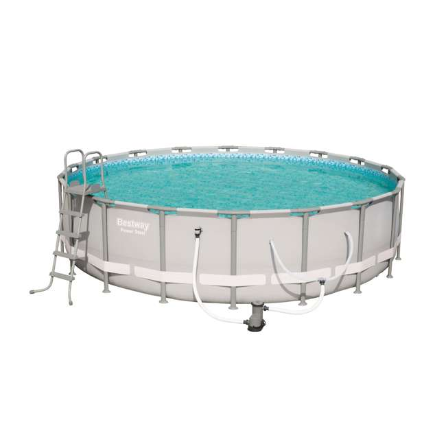 56399E-BW Bestway 18 x 4.3 Foot Reinforced Steel Frame Above Ground Swimming Pool (2 Pack) 2