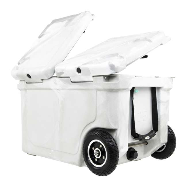 HC50-17W WYLD HC50-17W 50 Quart Dual Compartment Insulated Cooler with Wheels, White/Gray 3