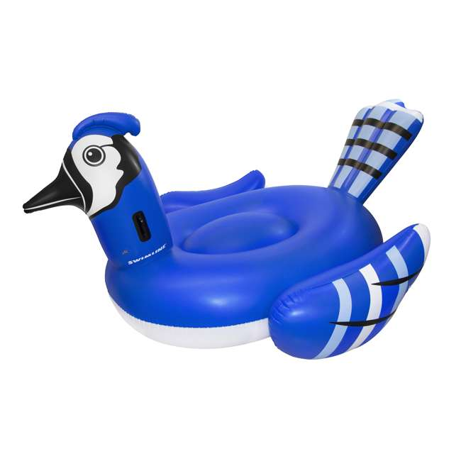 SL-90720M + 90705 Inflatable Blue Jay Ride On Float Bundled w/ Inflatable Peacock Giant Pool Float 1