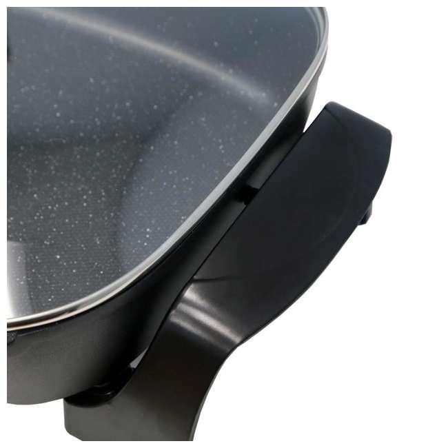 EG-6203-U-A Maxi-Matic 8-Quart Nonstick Jumbo Electric Skillet, Black (Open Box) 1
