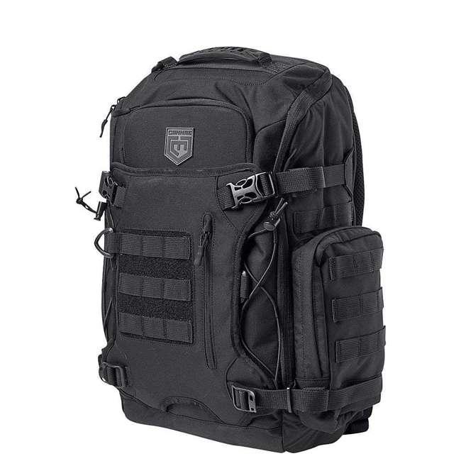 CPG-BP-LEGELT-M-B Cannae Pro Gear Nylon Medium 21L Elite Day Pack Backpack, Black 2