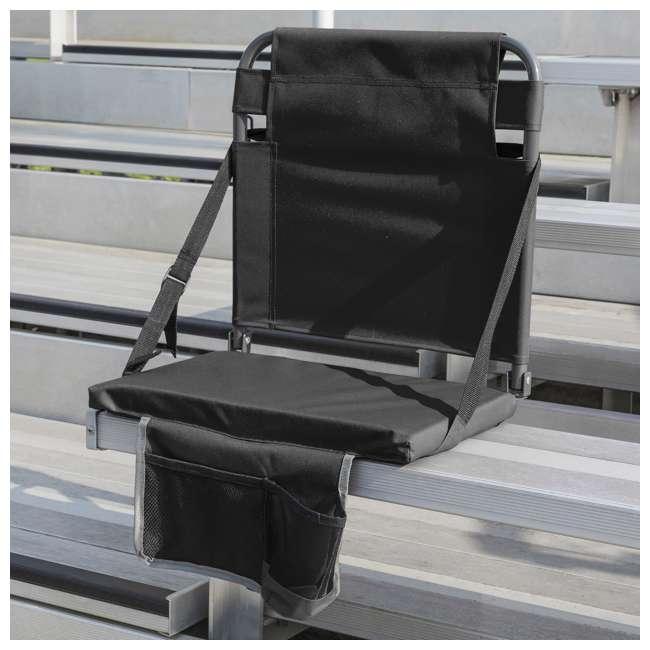 1-1-58810-DS Eastpoint Sports Adjustable Backrest Seat, Black (2 Pack) 2