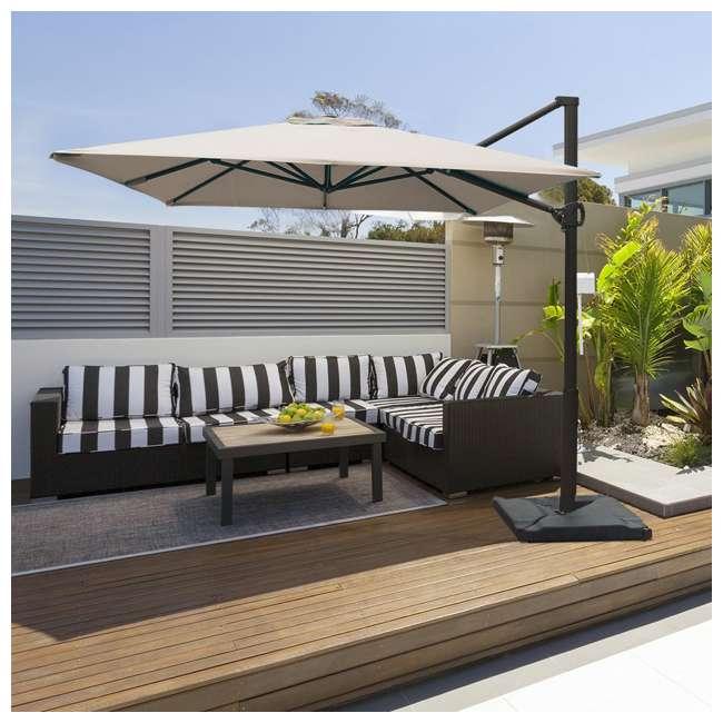 APNRC810SC Abba Patio 8 x 10 Feet Rectangular Umbrella, Sand 11