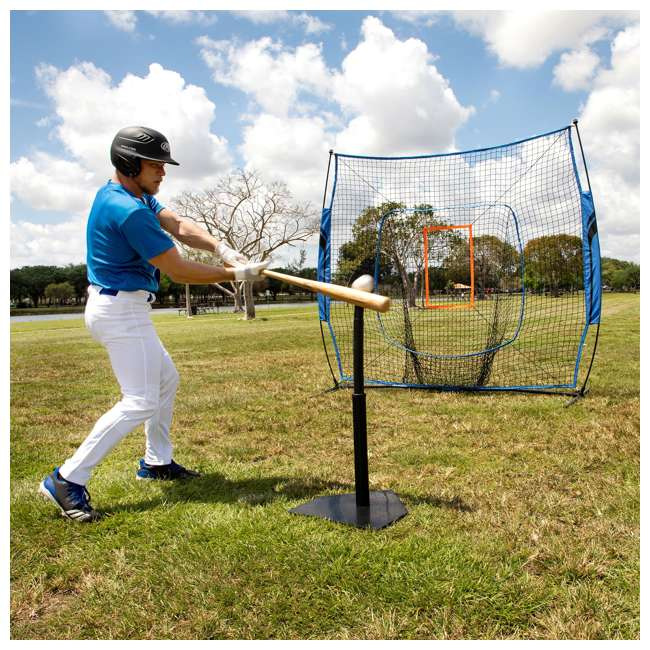 BS100Y19001 Training Equipment Baseball Fiberglass Pitching/Batting Net, Blue and Orange 8