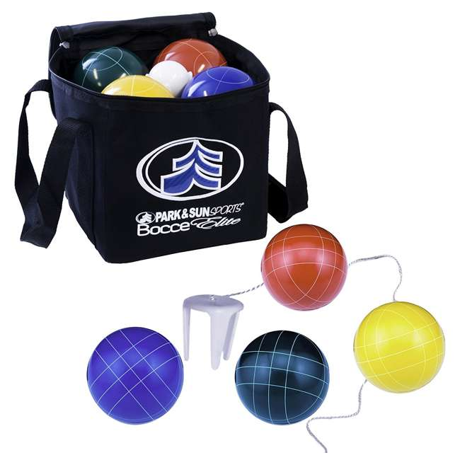 BB-109E Park & Sun Sports Bocce Elite Pro 109mm Set with Carrying Bag