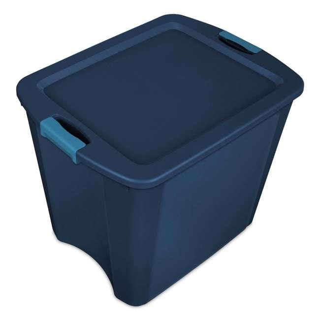 8 x 14487404-U-A Sterilite 26 Gallon Latch and Carry Storage Tote, True Blue (Open Box) (8 Pack)