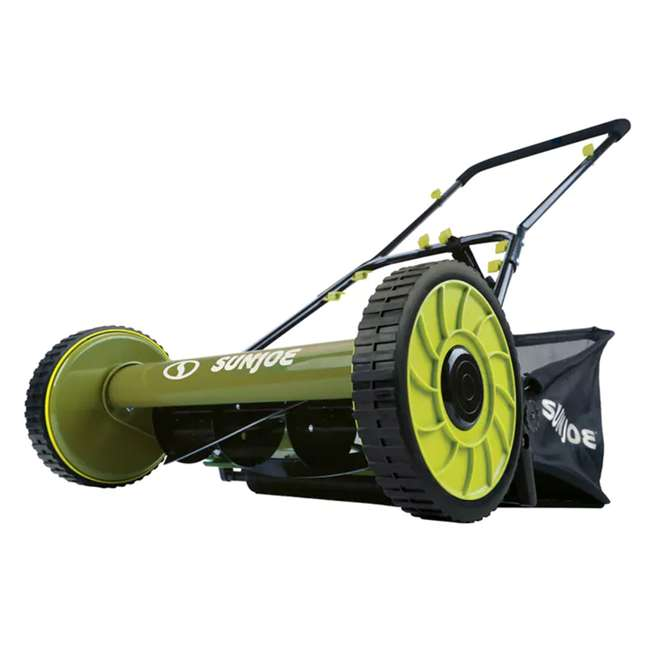 SUJ-MJ500M Sun Joe SUJ-MJ500M 16 Inch 4 Position Manual Reel Mower with Grass Catcher 1