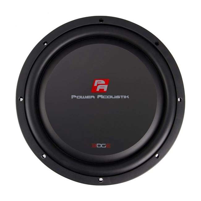 "EW-104S Power Acoustik 10"" Powerful 600W RMS Shallow Car Subwoofer Loud Speaker, Black"