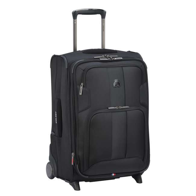 "40328272000 DELSEY Paris 21"" Expandable 2 Wheel Spinner Carry On Travel Luggage Case, Black 1"