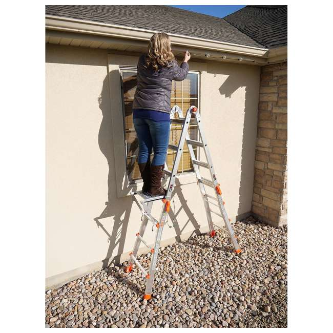 LGL-15417-104-U-A Little Giant 15' Aluminum Adjustable Folding Ladder & Work Platform (Open Box) 4